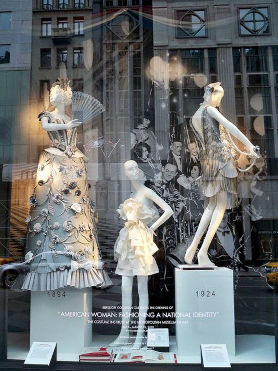 Window display at Bergdorf Goodman in New York.