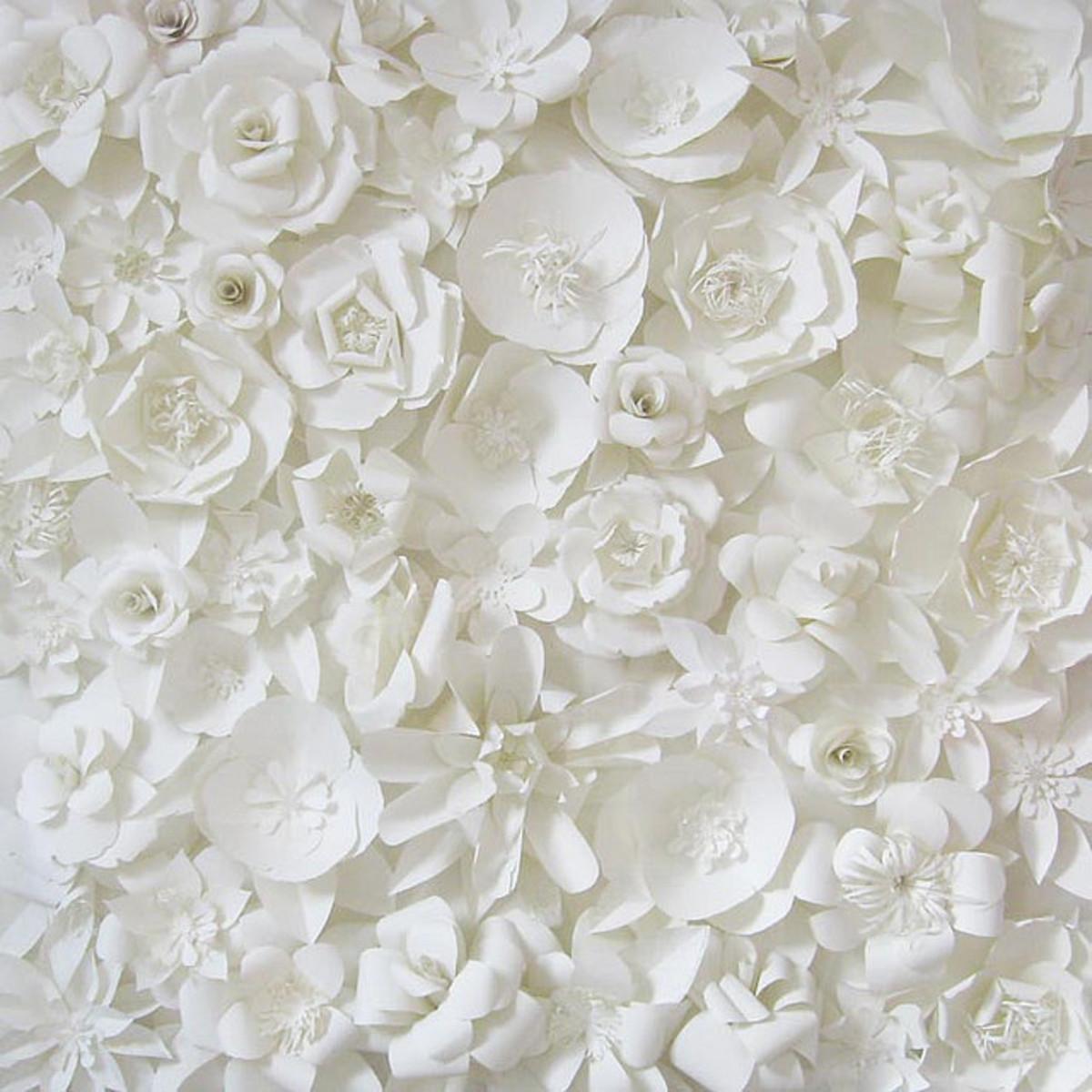 3d Wall Decor Flower Garden : Paper sculpture techniques inspiration tutorials