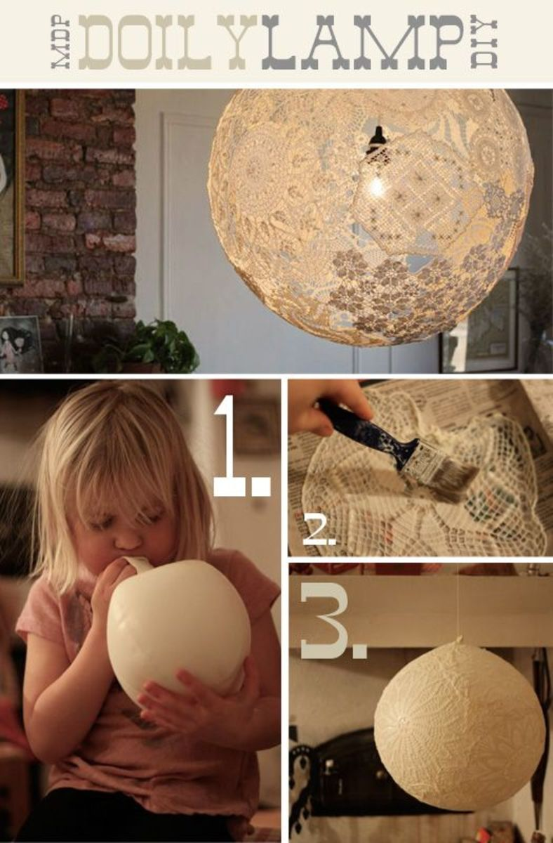 Doily Lamp at More Design Please