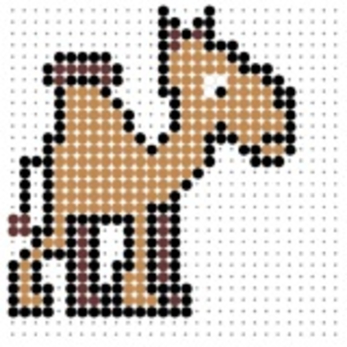 camel perler bead pattern