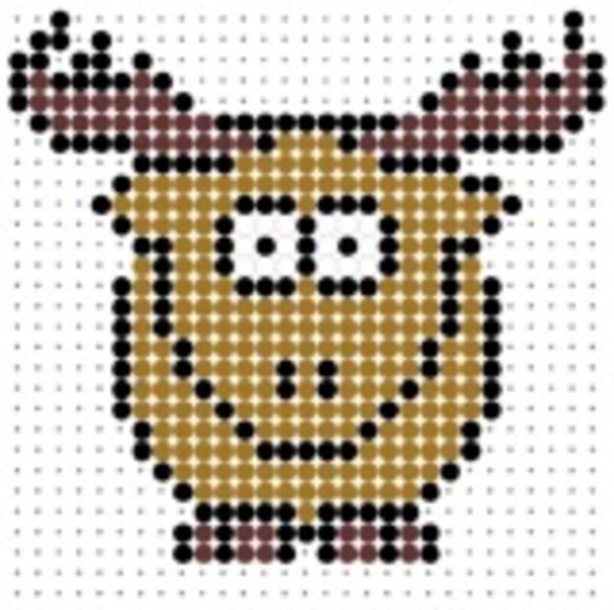elk / reindeer perler bead pattern