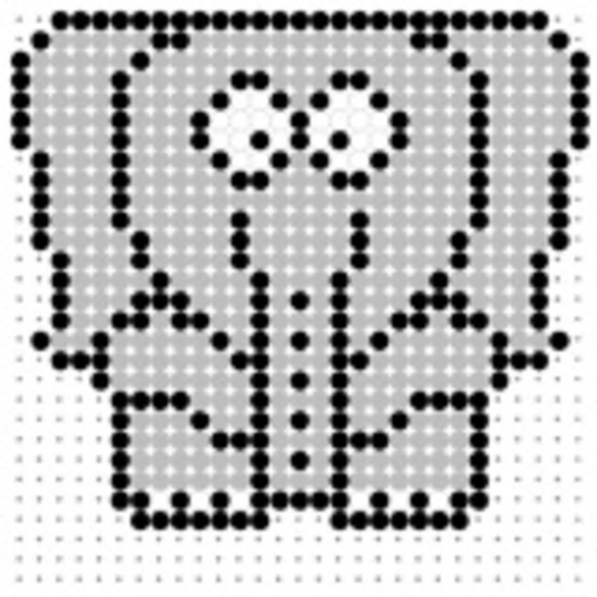elephant perler bead pattern