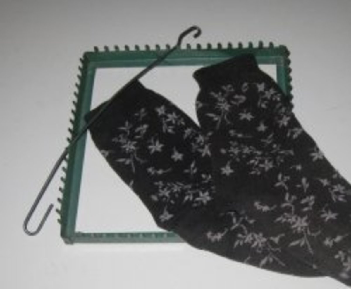 Use old socks or other clothing to make potholder loops.