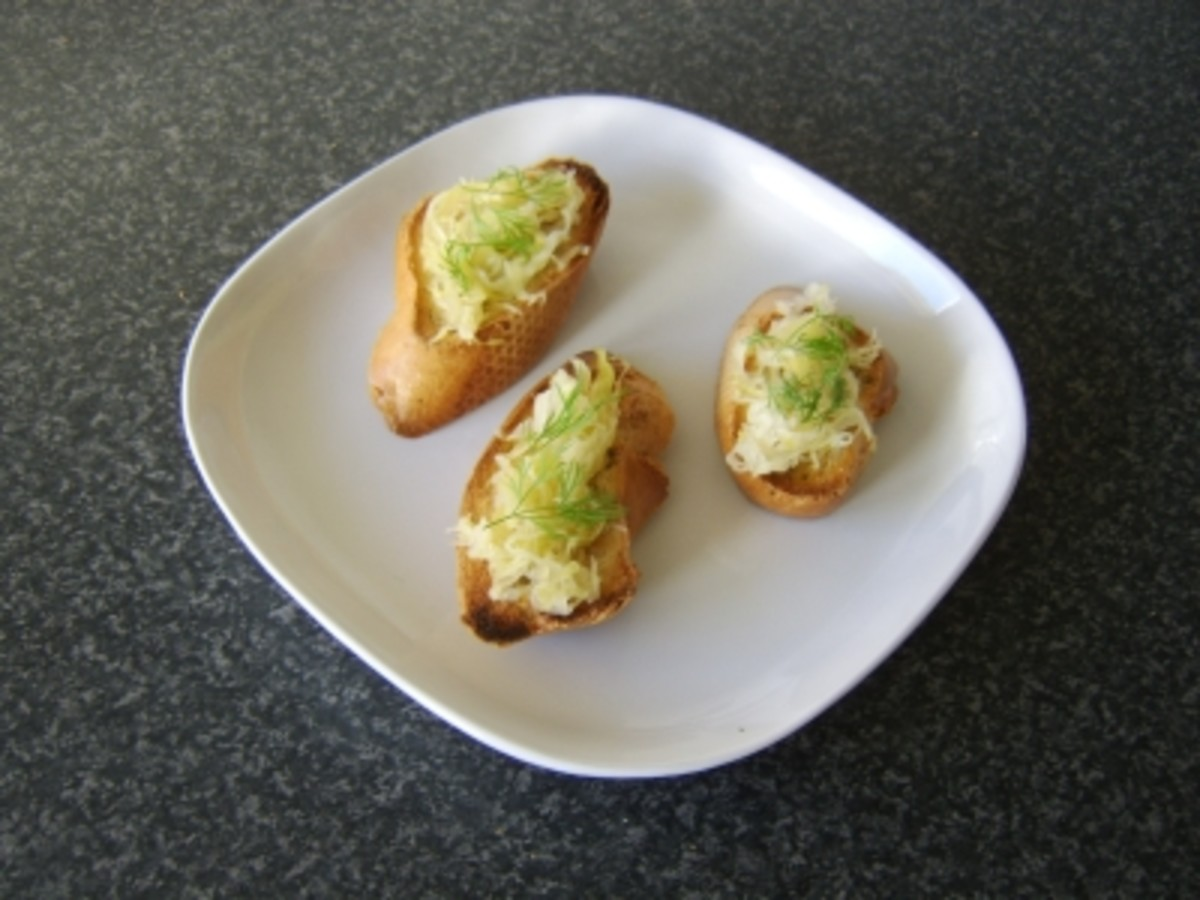 Sauerkraut and Dill Bruschetta Recipe