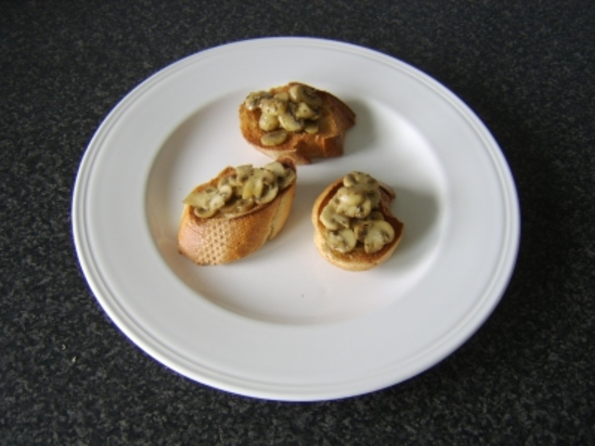 Garlic, Mushroom and Sage Bruschetta Recipe