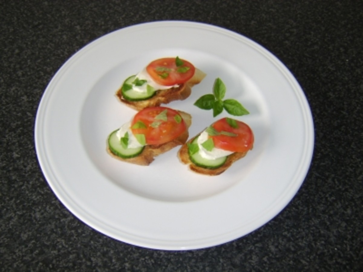 Tomato, Cucumber and Mozzarella Bruschetta Recipe