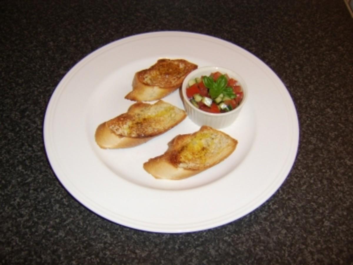 Tomato, Basil and Cucumber Bruschetta Recipe