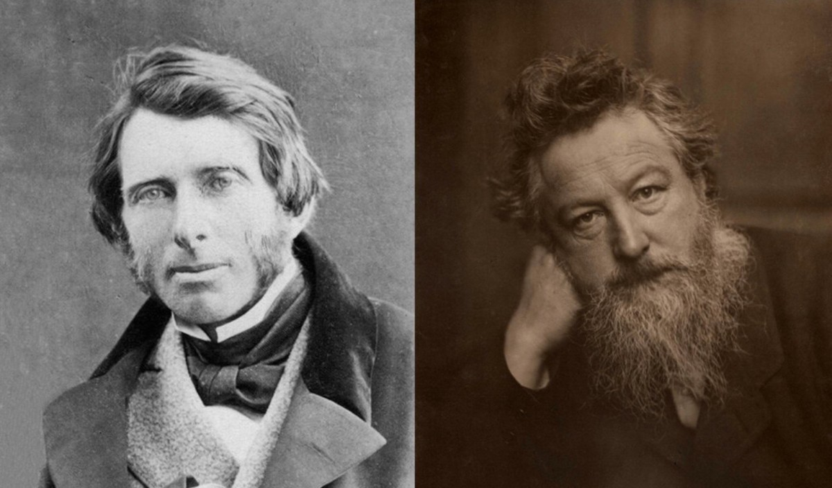 John Ruskin and William Morris, two pioneers of the Arts and Crafts Movement