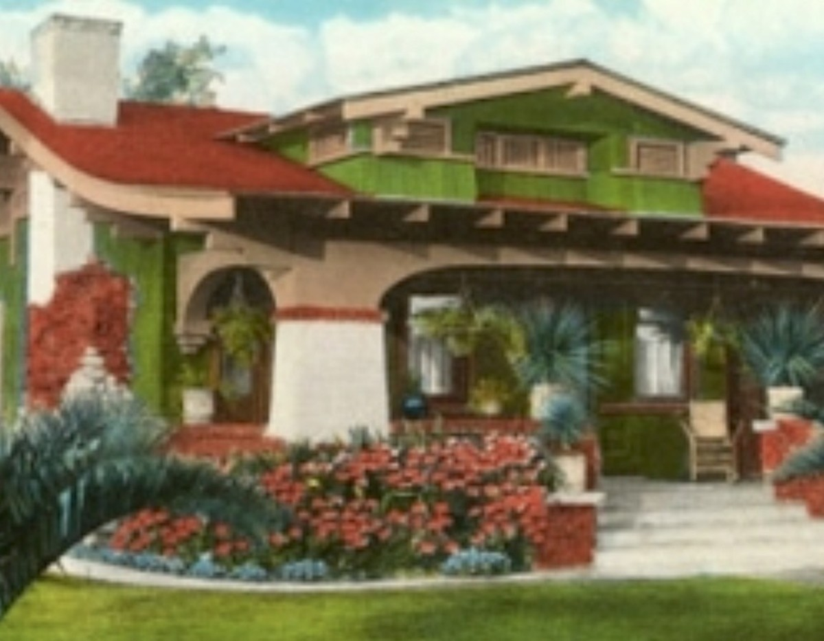 Mission Revival style Arts & Crafts era home.
