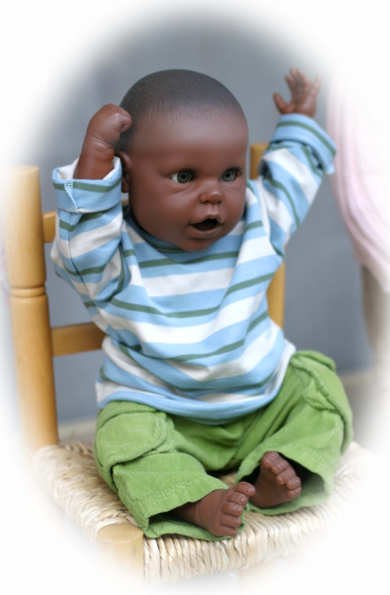 Lifelike baby dolls are available in different ages.