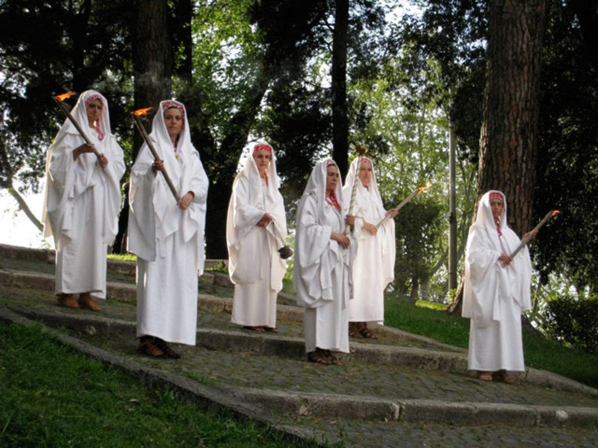 Vestal Virgins Celebrating the Birthday of Rome