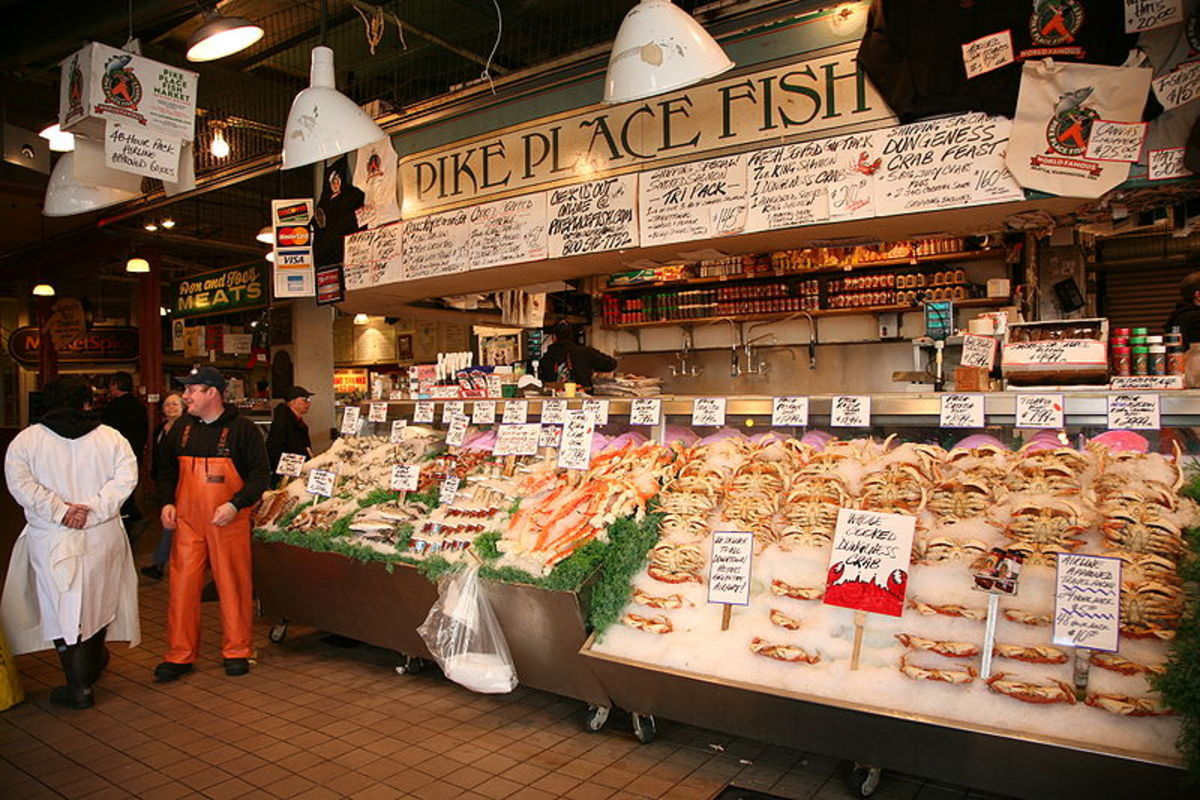 People always seem to be smiling at work at Pike's Place Fish Market