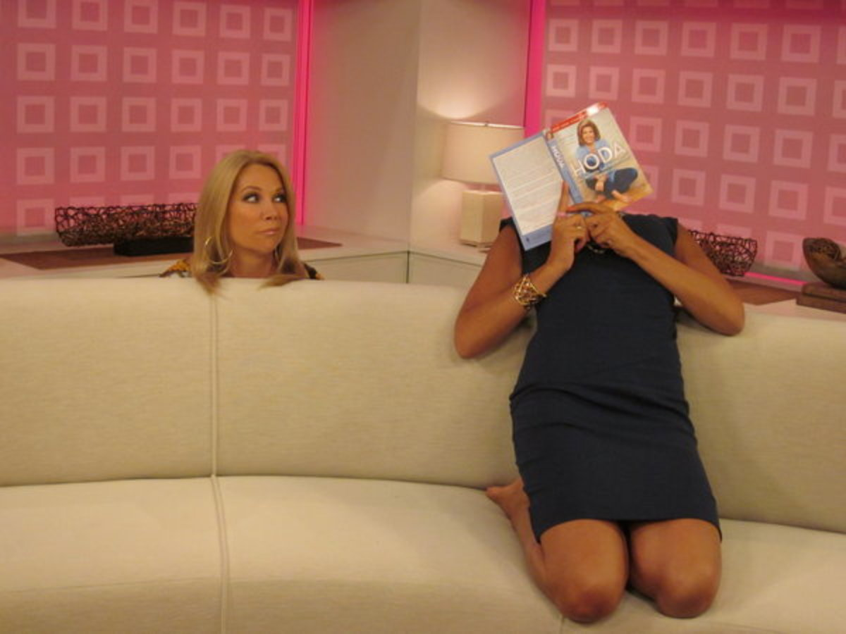 Television host Kathie Lee Gifford and news anchor Hoda Kotb Horsemanning on Today, 7 am on NBC