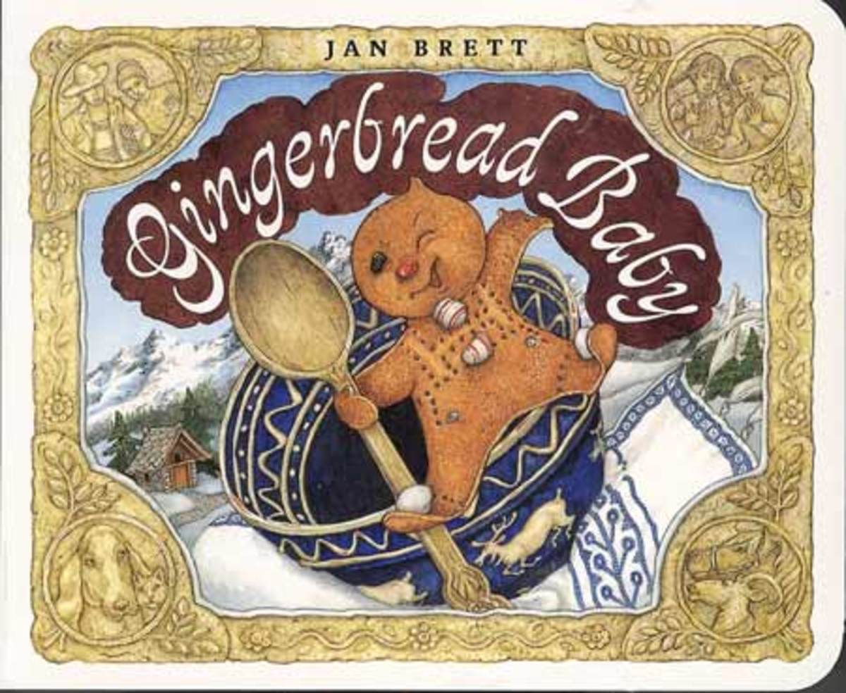 The Gingerbread Baby by Jan Brett is illustrated with exquisite details.