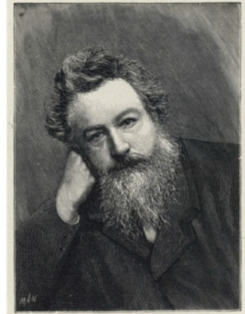 Photo Portrait of William Morris, founder of the Arts & Crafts movement