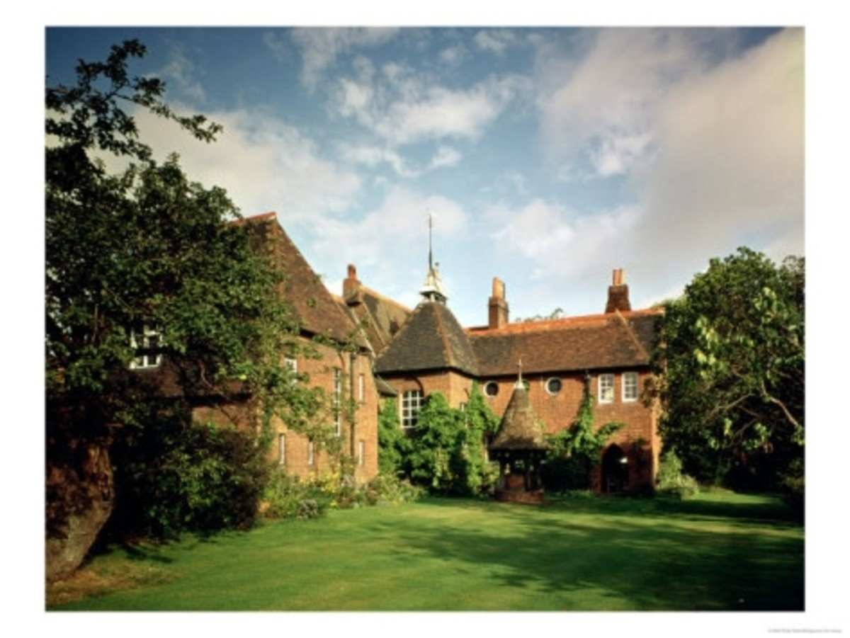 William Morris's Red house was designed by Philip Webb in 1859.