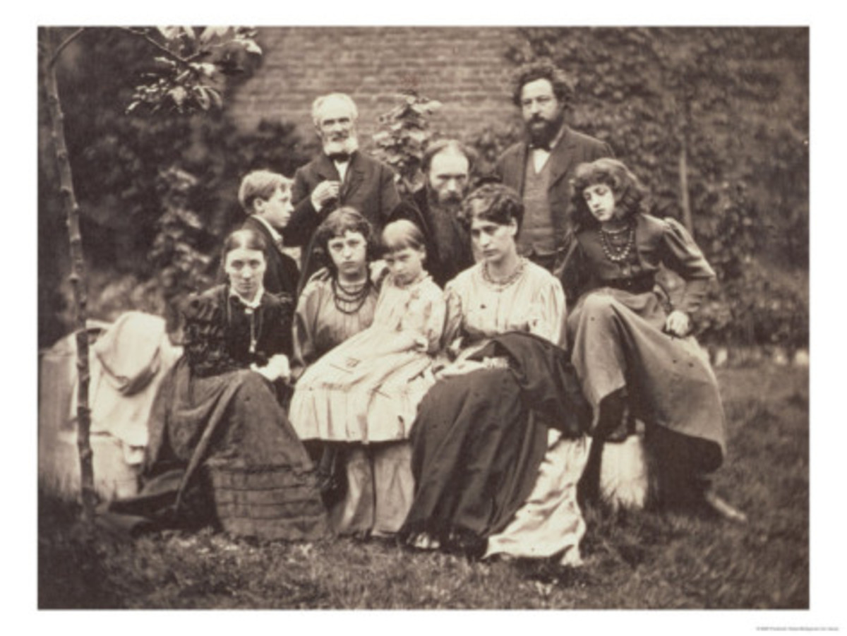 William Morris Sir Edward Burne-Jones and Their Families, 1874.