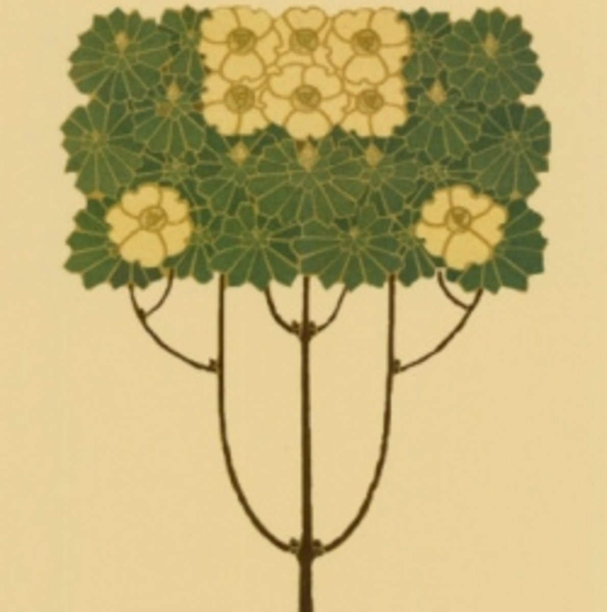 Detail from a piece entitled Arts and Crafts Tree I.