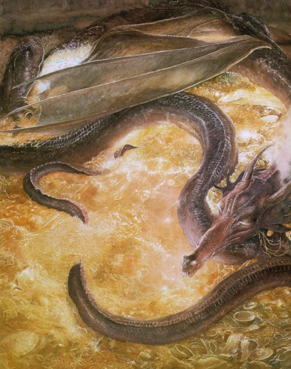Smaug - Art by Alan Lee