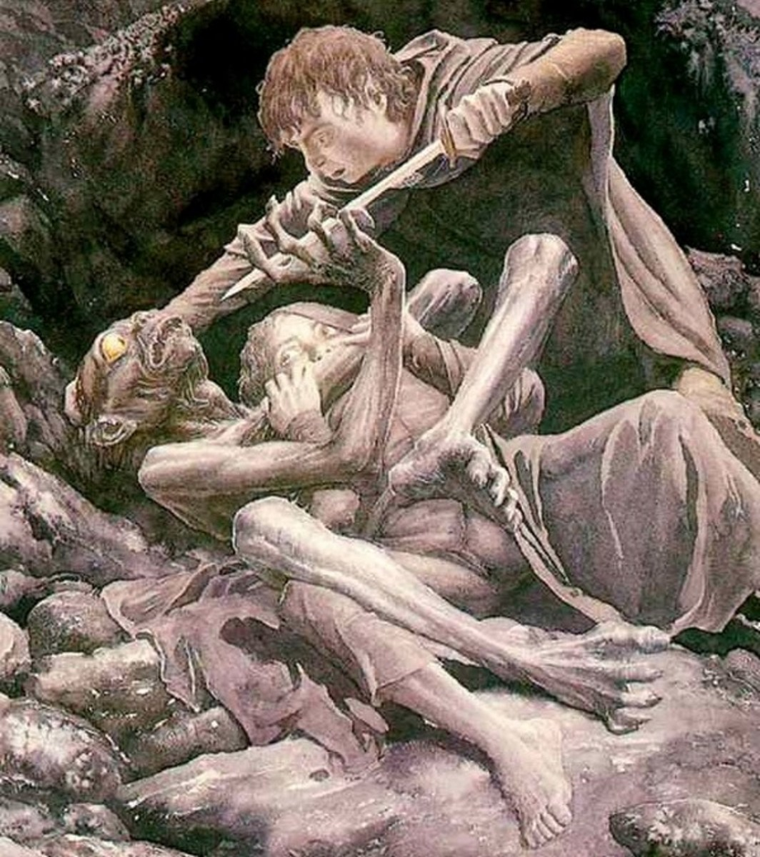 The Taming of Smeagol - Art by Alan Lee