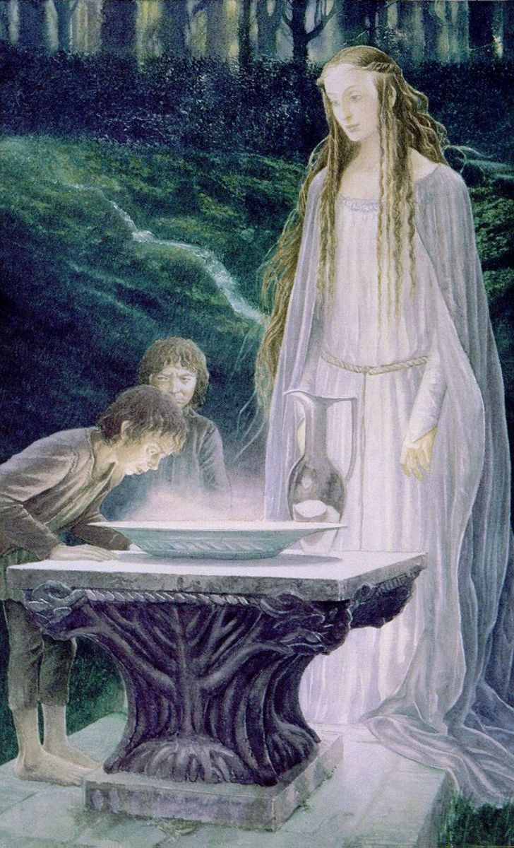 Galadriel's Mirror - Art by Alan Lee