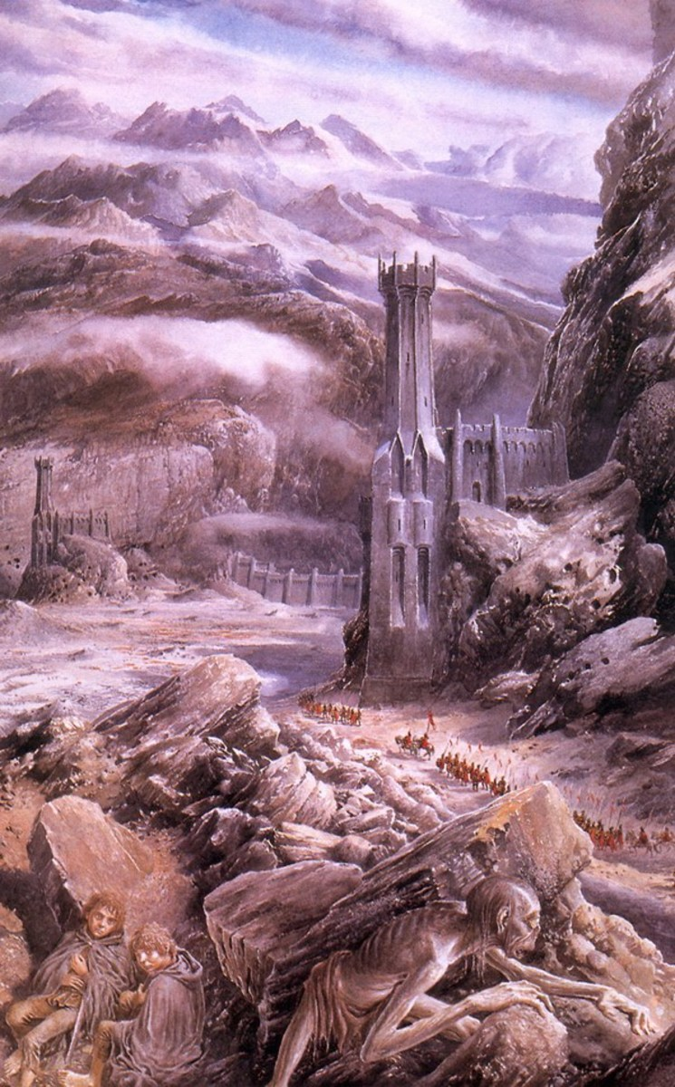 The Black Gate - Art by Alan Lee