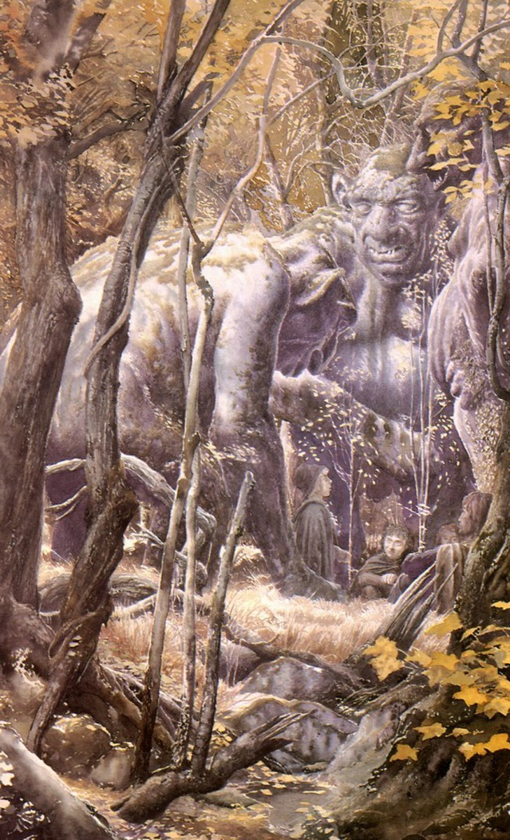 The Stone Trolls - Art by Alan Lee