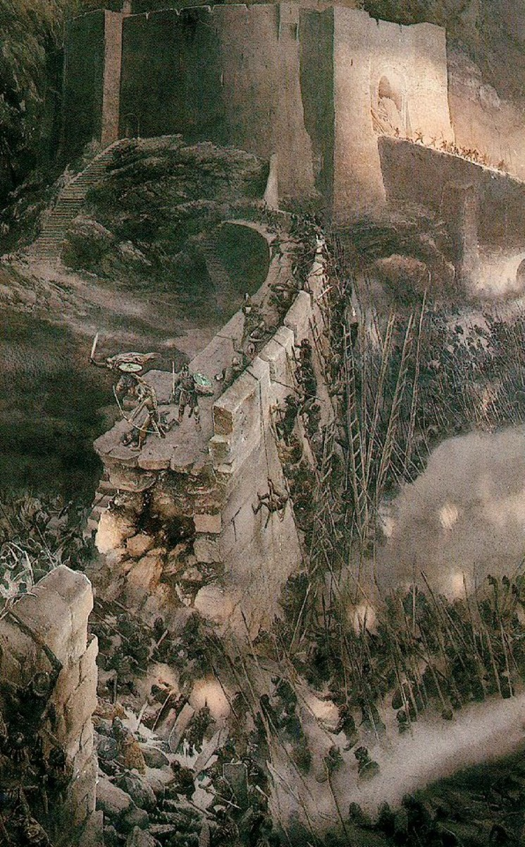 The Battle of the Hornburg - Art by Alan Lee