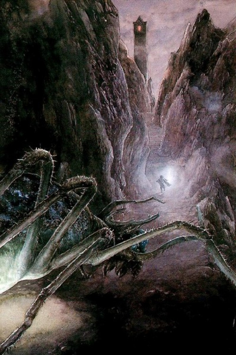 Shelob's Lair - Art by Alan Lee