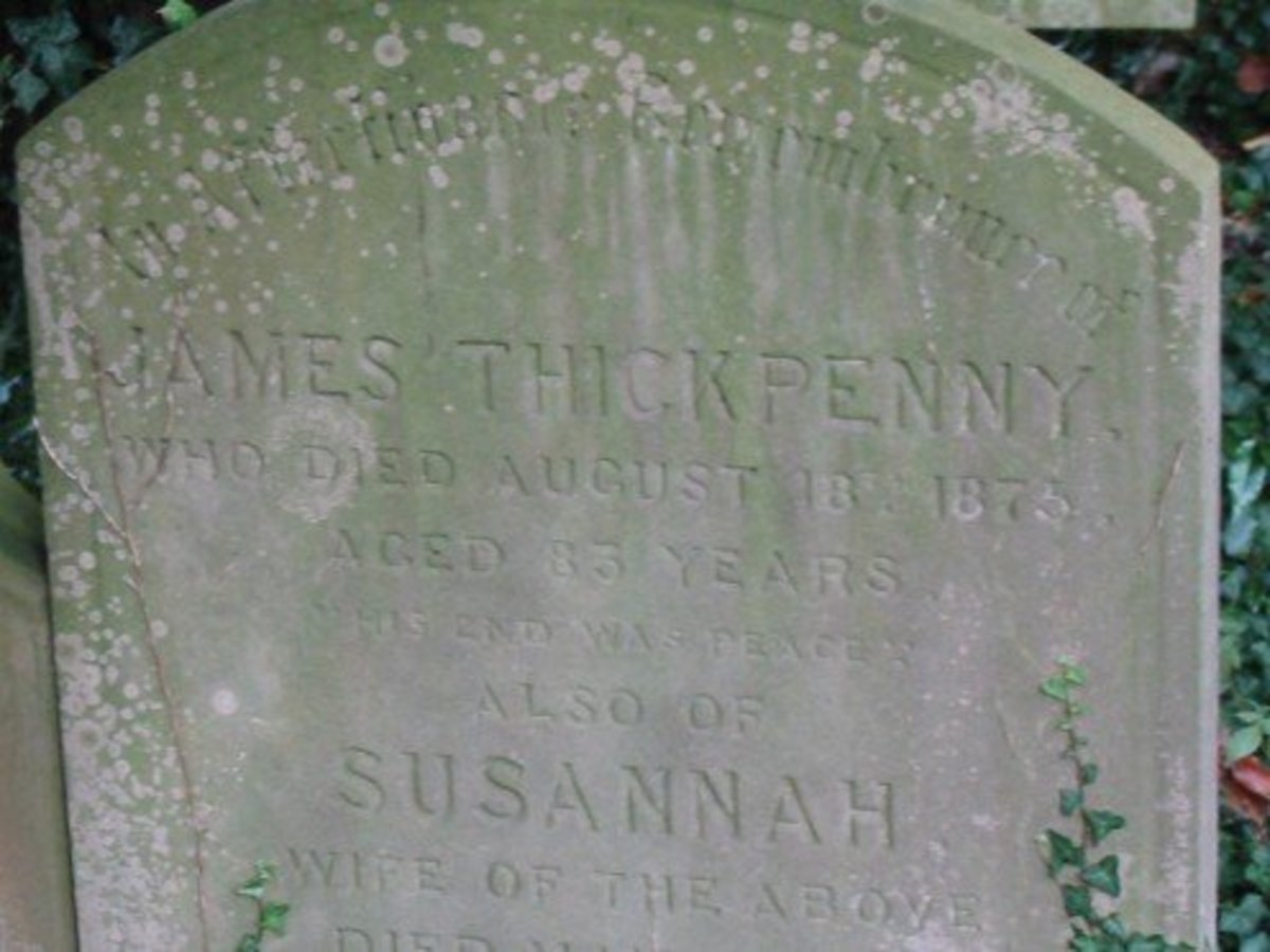 James Thickpenny died 18 Aug 1875