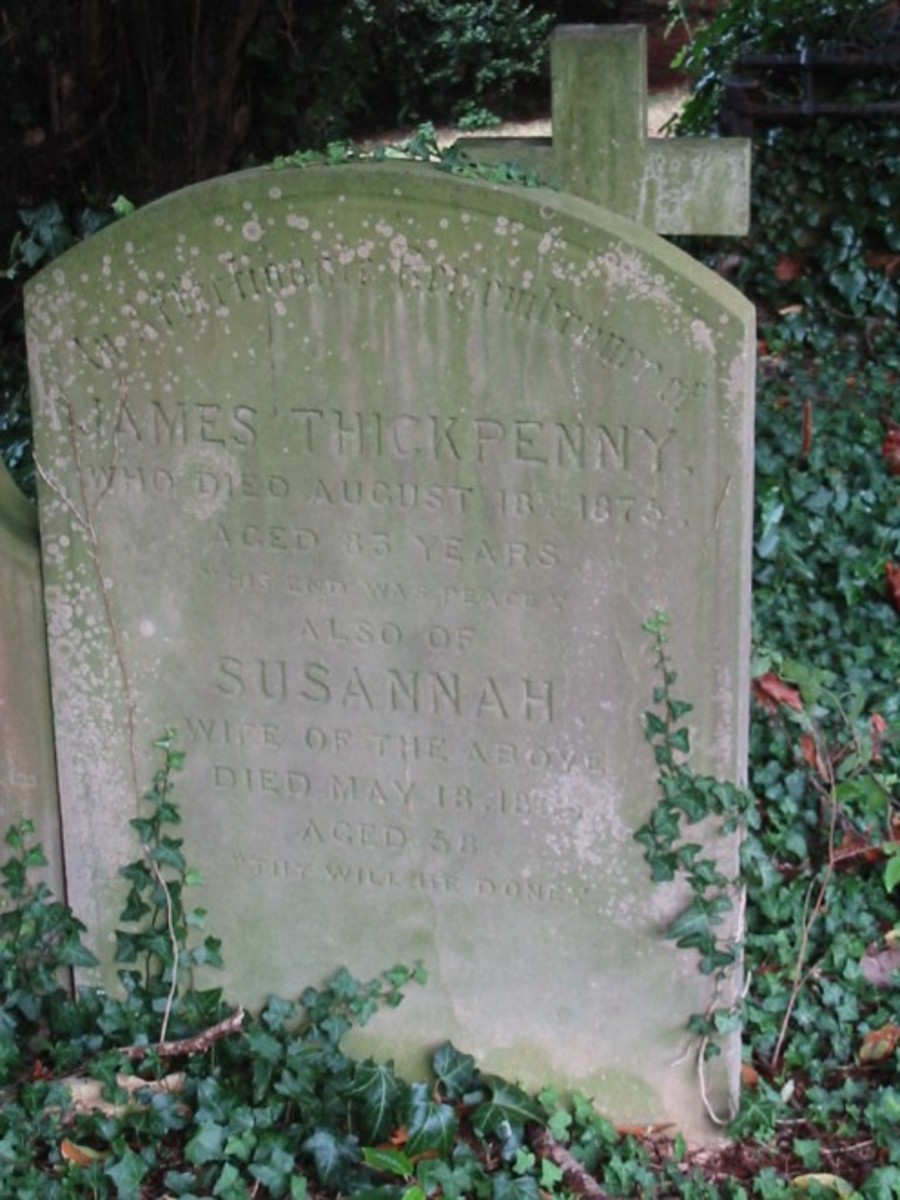 James and Susannah Thickpenny, St. Peter & St. Pauls, Newport Pagnell, Buckinghamshire