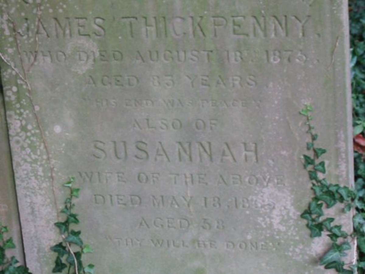 Susannah Thickpenny died 18 May 1855