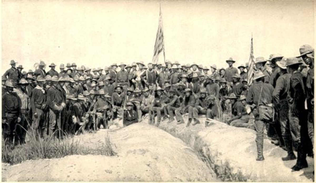 The soldiers and officers of the Battle of San Juan Hill - The Rough Riders are included