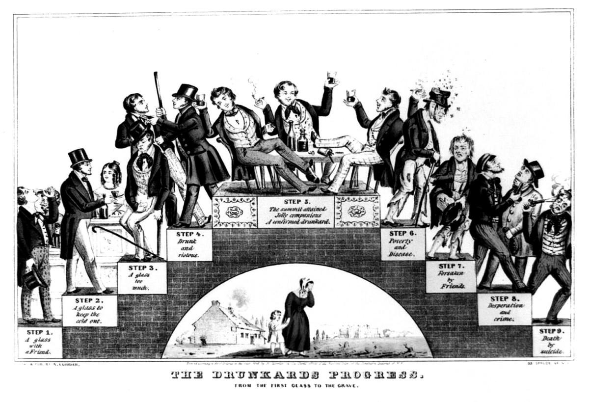 THE DRUNKARD'S PROGRESS (READ THIS CHART CAREFULLY—WHEN SOBER!)