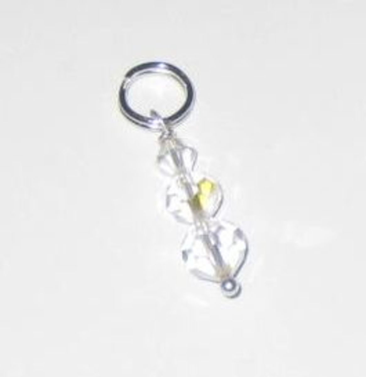 Crystal bead stitch marker.
