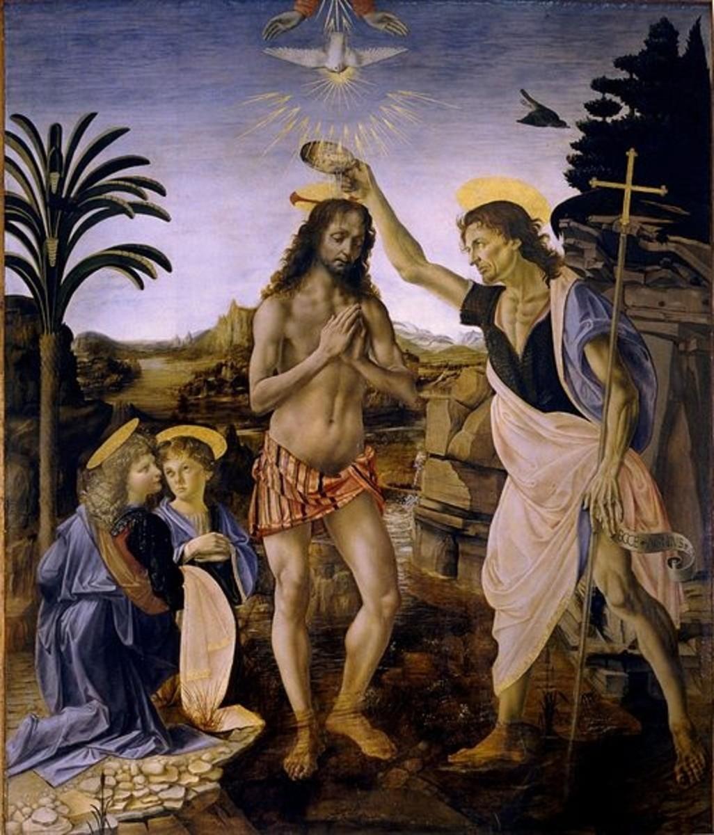 Baptism of Christ - Verrocchio
