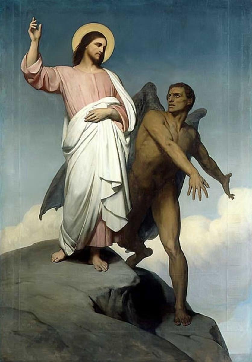 Temptation of Christ - Scheffer