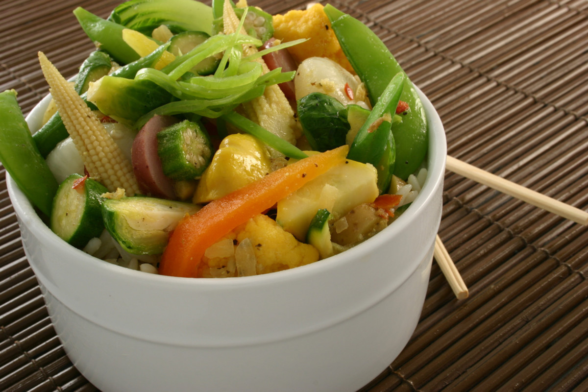 Delicious steamed vegetables are a healthy meal choice for diabetics