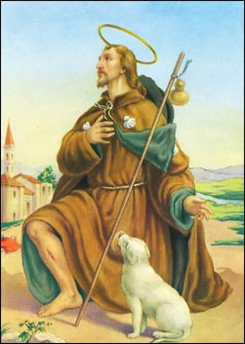 St. Rocco is also the patron saint of dogs.