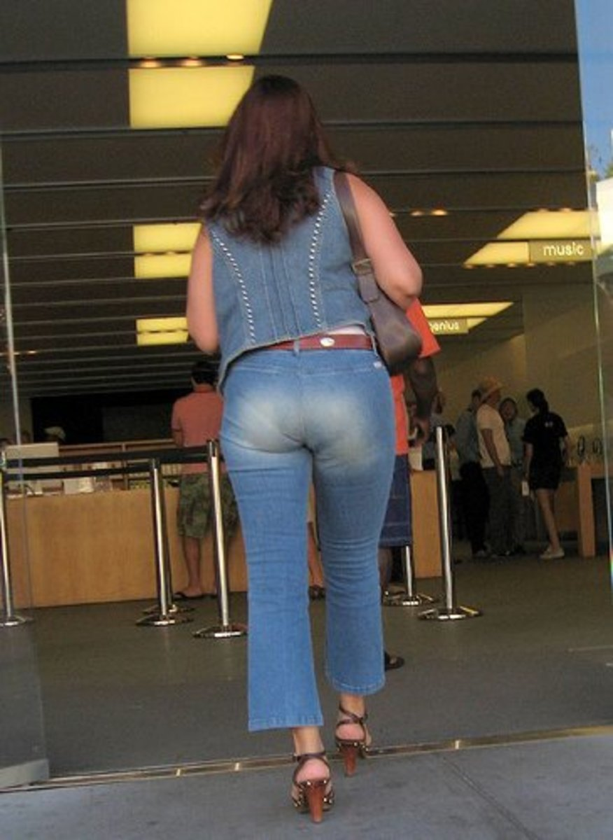 Mature women in tight jeans