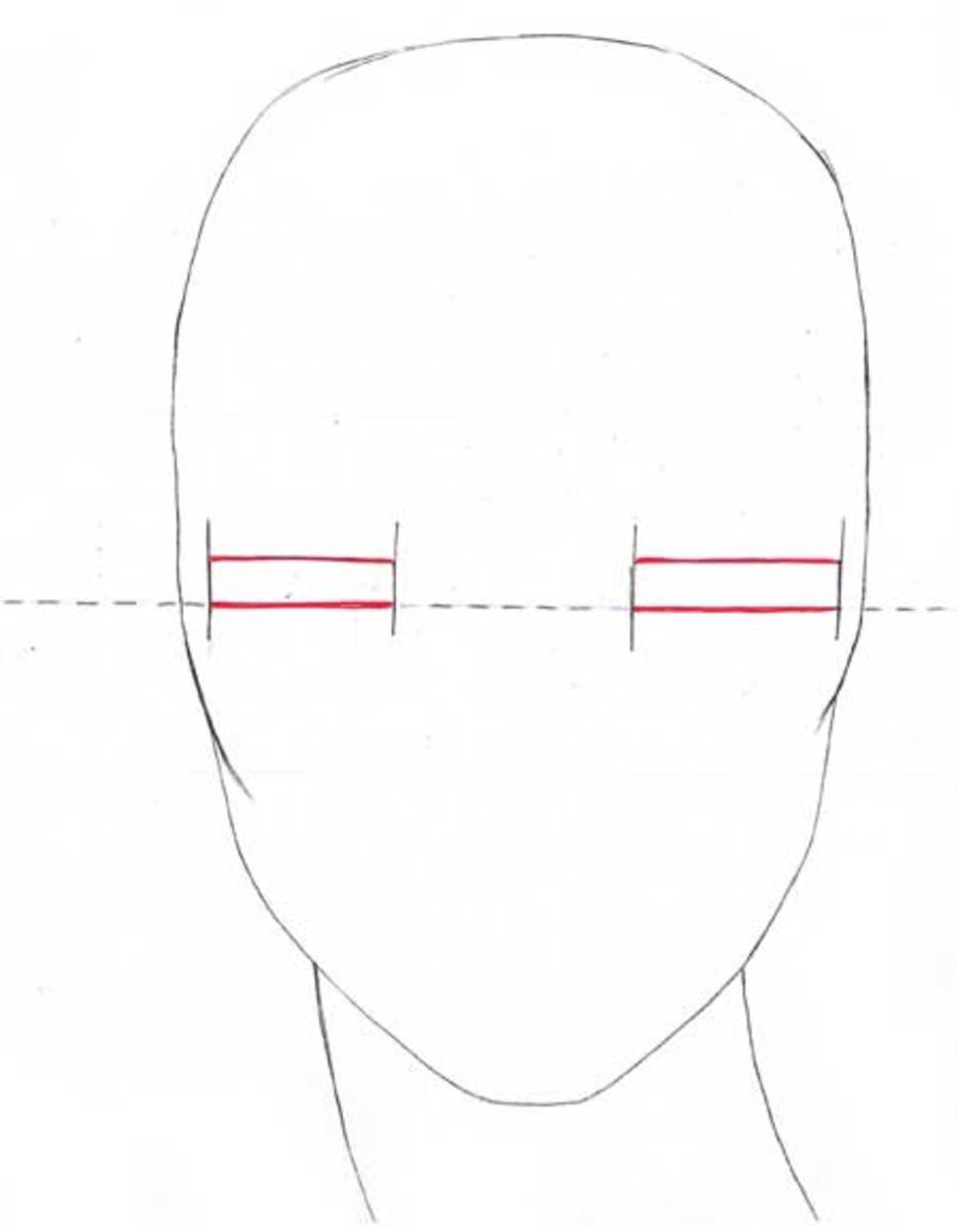 Draw 2 paraller lines . Note that eyes in fashion illustrations are drawn slightly closed to gain that glamour sensation.
