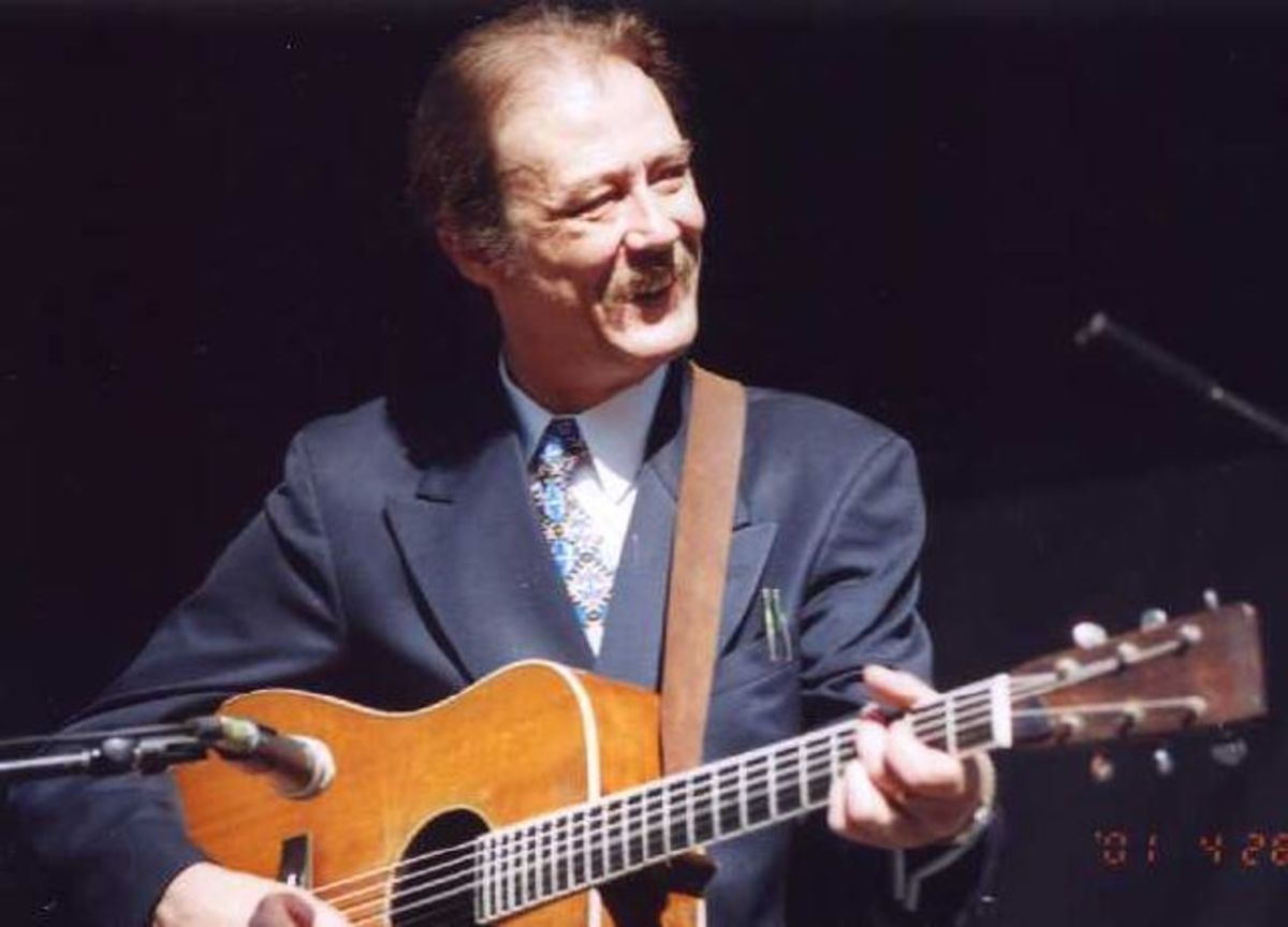 Tony Rice With His Modified 1935 Martin D 28 That Once Belonged To Clarence White