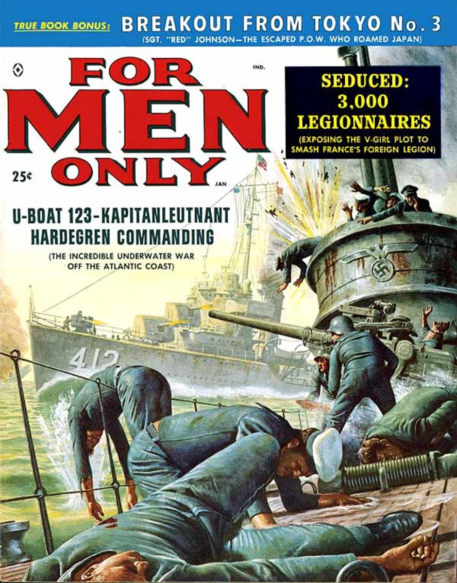 For Men Only 1959. Art by Mort Kunstler