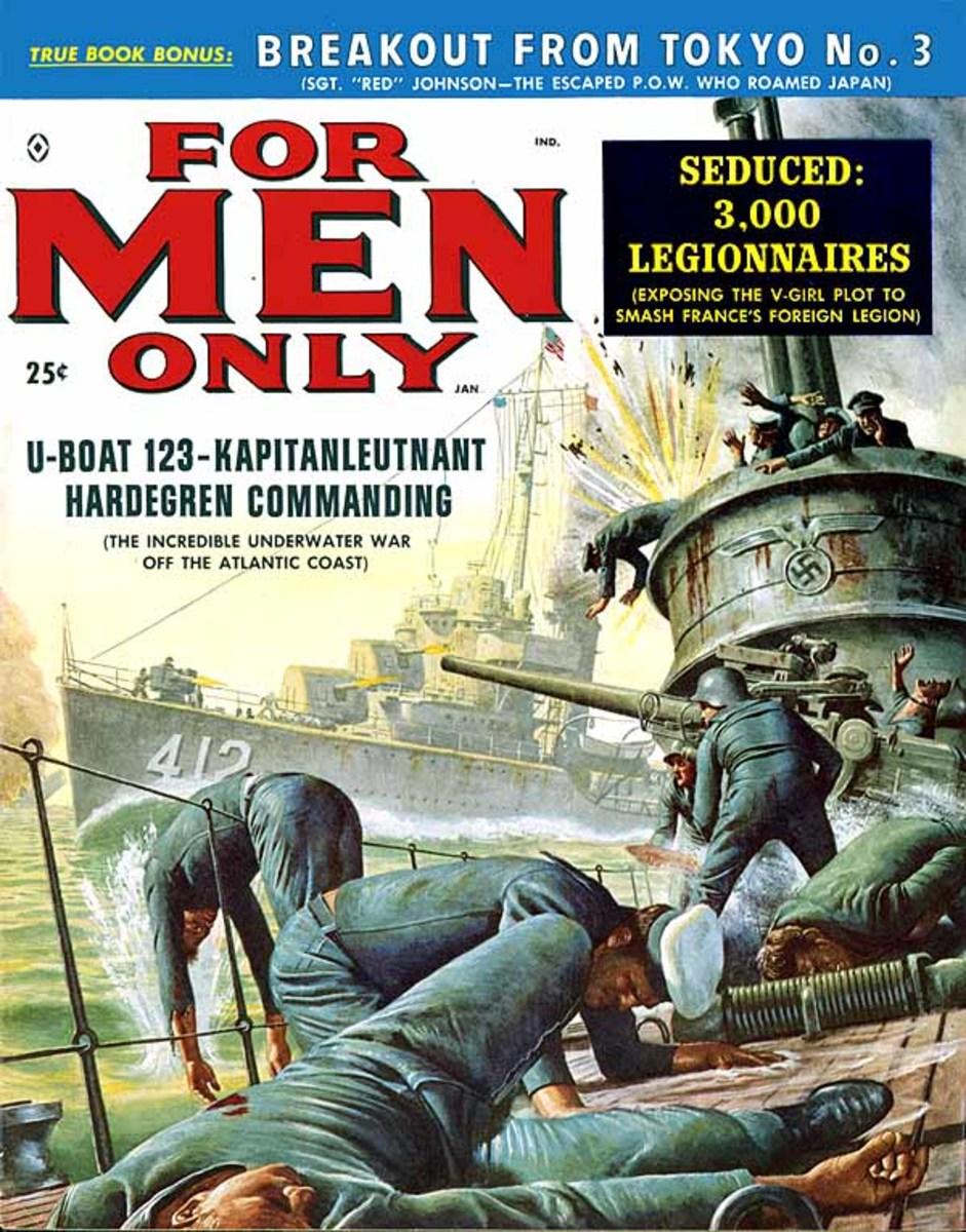 For Men Only 1959. Art by Mort Kunstler