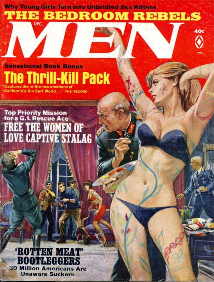MEN 1967-12-Dec. Art by Mort Kunstler.
