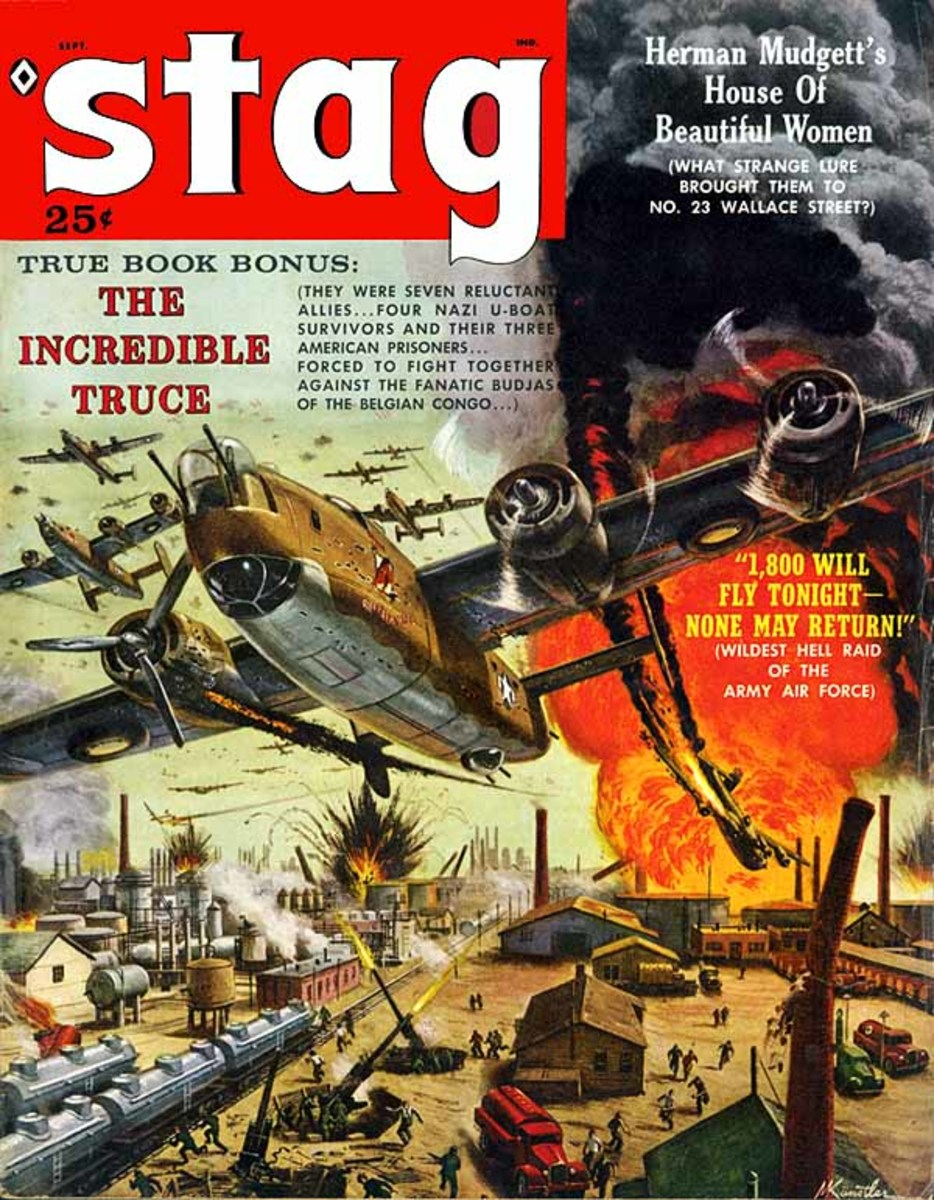Stag cover art by Mort Kunstler.