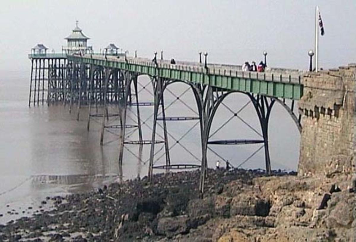 Clevedon Victorian Pier near Bristol
