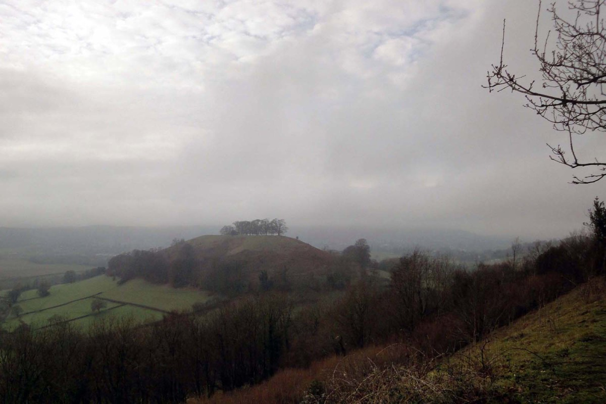 Views of Smallpox hill from Uley Bury