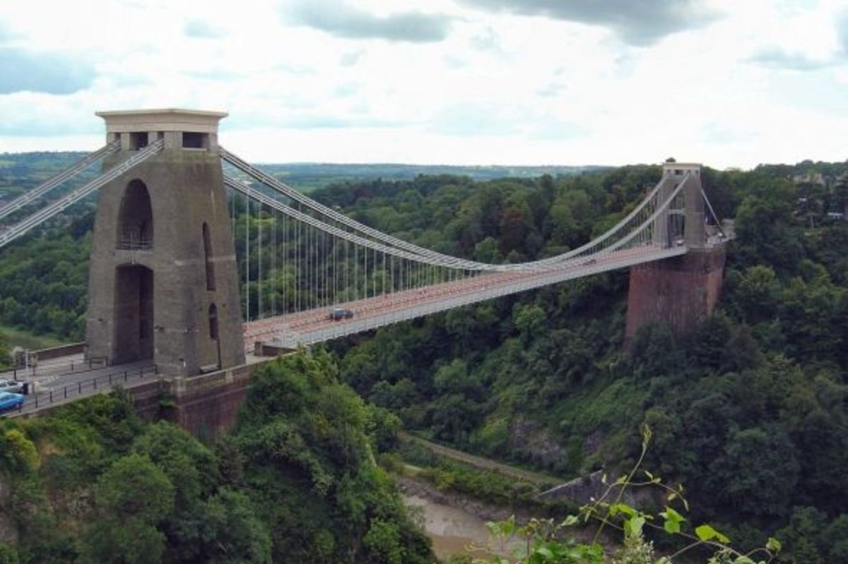 Clifton suspension bridge, Bristol.  Built in 1864 by Isambard Kingdom Brunel.