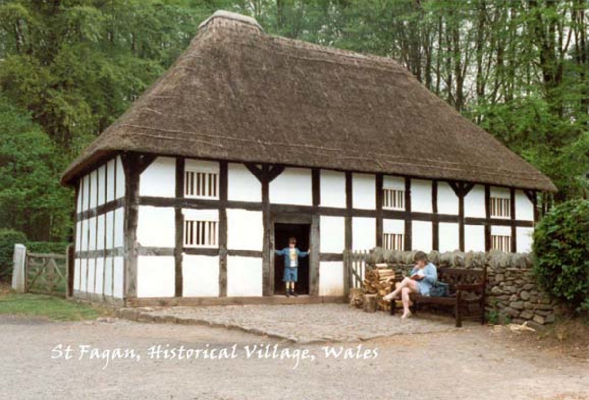 Thatched home at St Fagan historical village
